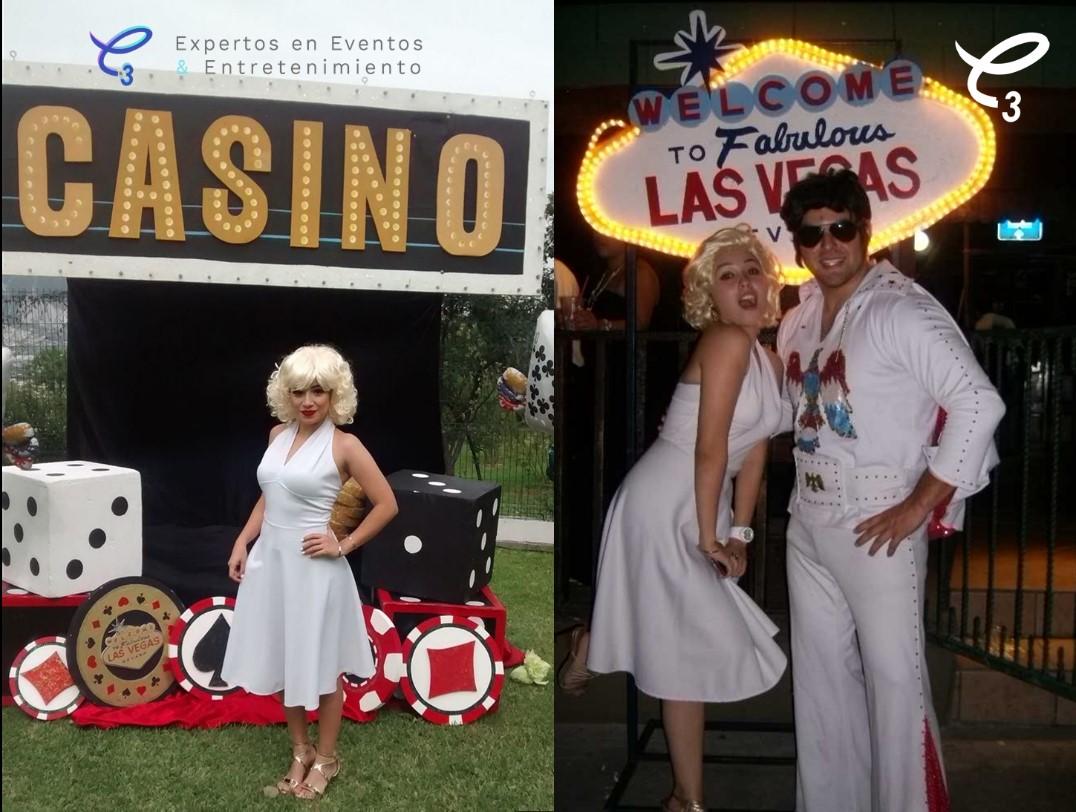 Contrata ya ! Imagina a la bella Marilyn en tu fiesta Casino Las Vegas , recibiendo a tus invitados haciendo tu fiesta única