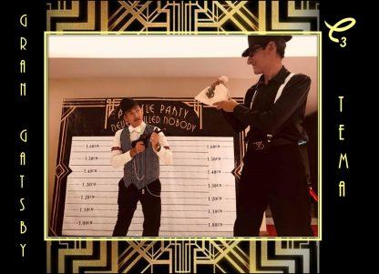 Divertido set decorativo de Gran Gatsby gangsters ,reserva aquí !