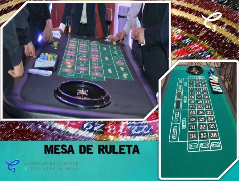 Diviértete como en los grandes casinos con la mesa de Ruleta en renta para tu evento