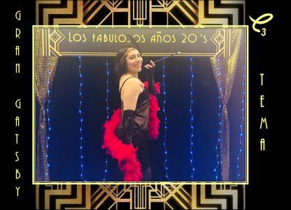 Elegante set decorativo de Gran Gatsby años 20 , renta aquí!