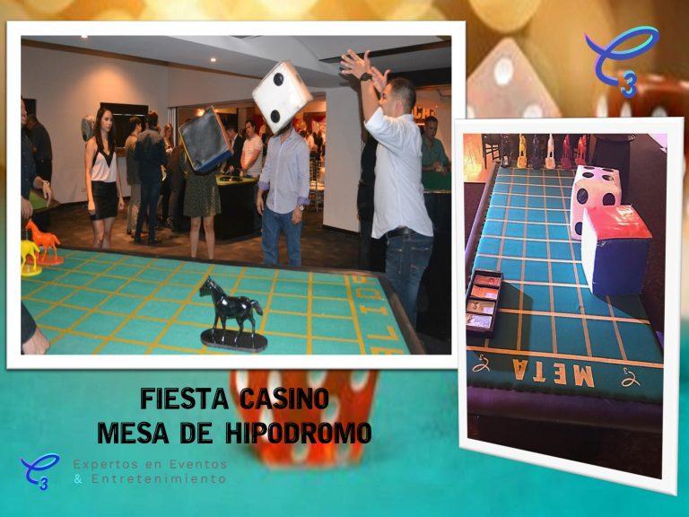 Renta de mesa de hipódromo fiesta tema casino , vive la emoción de las carreras de caballos en tu evento