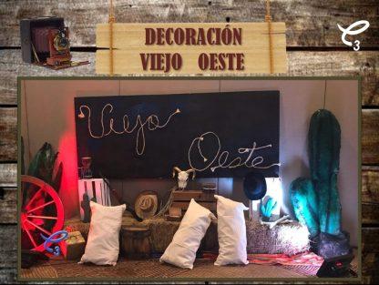 Set decorativo fotográfico tema Viejo Oeste, da click para reservar en el enlace!