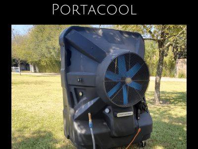 """INTERIORES Y EXTERIORES  Enfriadores evaporativos portátiles bajan la temperatura del aire entre 8° y 14°C (15° y 25°F). Recomendados para eventos con escenarios, carpas y en talleres de autos. Tanque de agua integrado para enfriar de manera portátil o conecte a la manguera del jardín para usarlo todo el día. Exterior de polietileno duradero y antigoteo. Velocidades variables. 120 Voltios. Ruedas de uso pesado: 2 giratorias, 2 con seguro. Por seguridad, se apagan automáticamente cuando el nivel de agua está bajo. Listados por ETL/C-ETL. Enfrían hasta 3,125 pies cuadrados hasta por 8 horas. 5 almohadillas de repuesto incluidas. 1 AÑO DE GARANTÍA MODELO NO.DIMENSIONES ANCHO x ALTO x PROF.TAMAÑO DEL VENTILADORCAPACIDAD DE ENFRIAMIENTOHPAMPERIOSCFMCAP. DE AGUAPESO (LBS.)PRECIO C/U (MXN)EN EXISTENCIA SE ENVÍA HOY H-712764 x 78 x 30""""36""""3,125 pies cuad.1 1/210.812,50060 gal.26"""